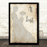 Etta James At Last Song Lyric Man Lady Dancing Quote Print