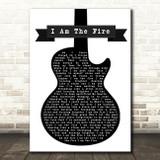 Halestorm I Am The Fire Black & White Guitar Song Lyric Print
