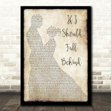 Bruce Springsteen If I Should Fall Behind Song Lyric Man Lady Dancing Print