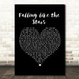 James Arthur Falling like the Stars Black Heart Song Lyric Print