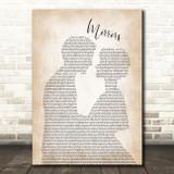 Justin Timberlake Mirrors Man Lady Bride Groom Wedding Song Lyric Print