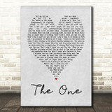 The One Kodaline Grey Heart Song Lyric Quote Print