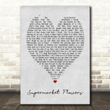Supermarket Flowers Ed Sheeran Grey Heart Song Lyric Quote Print
