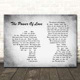 Celine Dion The Power Of Love Man Lady Couple Grey Song Lyric Quote Print