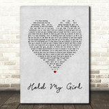George Ezra Hold My Girl Grey Heart Song Lyric Quote Print