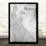 DJ Sammy Heaven Grey Man Lady Dancing Song Lyric Print