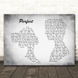 Ed Sheeran & Beyonce Perfect Man Lady Couple Grey Song Lyric Quote Print