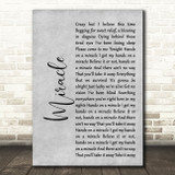 Foo Fighters Miracle Rustic Script Grey Song Lyric Quote Print