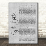 Frank Turner Get Better Rustic Script Grey Song Lyric Print