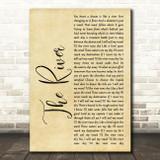 Garth Brooks The River Rustic Script Song Lyric Print