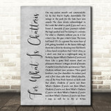 Half Man Half Biscuit For What Is Chatteris Grey Rustic Script Song Lyric Print