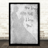 How Long Will I Love You Ellie Goulding Grey Song Lyric Man Lady Dancing Print