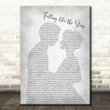 James Arthur Falling like the Stars Man Lady Bride Groom Grey Song Lyric Print