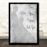 James Arthur Say You Won't Let Go Man Lady Dancing Grey Song Lyric Quote Print