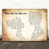 Adele Make You Feel My Love Man Lady Couple Song Lyric Quote Print