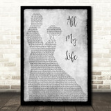 K-Ci & JoJo All My Life Man Lady Dancing Grey Song Lyric Quote Print