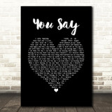Lauren Daigle You Say Black Heart Song Lyric Print