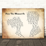 Shania Twain From This Moment On Man Lady Couple Song Lyric Quote Print