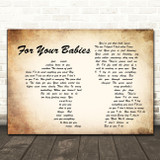 Simply Red For Your Babies Man Lady Couple Song Lyric Quote Print