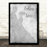 Lionel Richie & Mariah Carey Endless Love Man Lady Dancing Grey Song Lyric Print