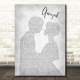 Lonestar Amazed Grey Song Lyric Man Lady Bride Groom Wedding Print