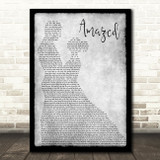 Lonestar Amazed Grey Song Lyric Man Lady Dancing Quote Print