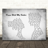 Luther Vandross Dance With My Father Man Lady Couple Grey Song Lyric Quote Print