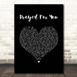 Matt Stell Prayed For You Black Heart Song Lyric Print