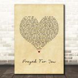 Matt Stell Prayed For You Vintage Heart Song Lyric Print