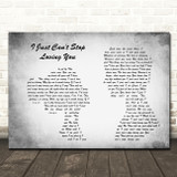 Michael Jackson I Just Can't Stop Loving You Man Lady Couple Grey Song Print