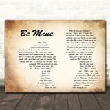 David Gray Be Mine Man Lady Couple Song Lyric Quote Print