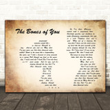 Elbow The Bones of You Man Lady Couple Song Lyric Quote Print