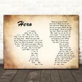 Enrique Iglesias Hero Man Lady Couple Song Lyric Quote Print