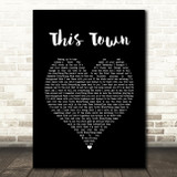 Niall Horan This Town Black Heart Song Lyric Print