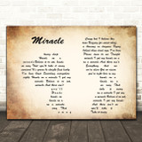 Foo Fighters Miracle Man Lady Couple Song Lyric Quote Print