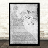 Paul Weller You Do Something To Me Man Lady Dancing Grey Song Lyric Print