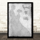 Phil Collins Against All Odds Man Lady Dancing Grey Song Lyric Quote Print
