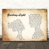 Mumford & Sons Guiding Light Man Lady Couple Song Lyric Quote Print