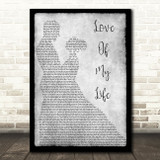 Queen Love Of My Life Grey Song Lyric Man Lady Dancing Quote Print