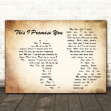 Ronan Keating This I Promise You Man Lady Couple Song Lyric Quote Print