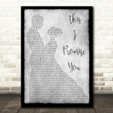 Ronan Keating This I Promise You Grey Song Lyric Man Lady Dancing Quote Print