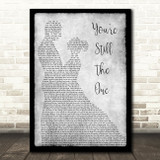 Shania Twain You're Still The One Grey Song Lyric Man Lady Dancing Quote Print