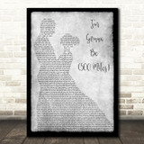 Sleeping At Last I'm Gonna Be 500 Miles Grey Man Lady Dancing Song Lyric Print