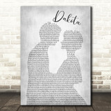 Stereophonics Dakota Man Lady Bride Groom Wedding Grey Song Lyric Quote Print