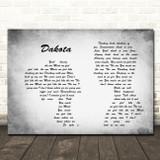 Stereophonics Dakota Man Lady Couple Grey Song Lyric Quote Print