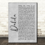 Stereophonics Dakota Rustic Script Grey Song Lyric Quote Print