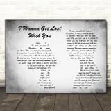 Stereophonics I Wanna Get Lost With You Grey Man Lady Couple Song Lyric Print