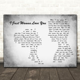 The Shires I Just Wanna Love You Grey Man Lady Couple Song Lyric Print