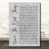The Style Council You're The Best Thing Rustic Script Grey Song Lyric Print