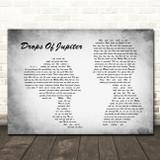 Train Drops Of Jupiter Man Lady Couple Grey Song Lyric Quote Print